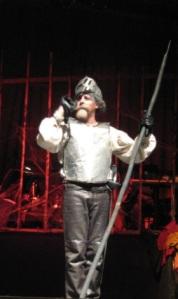Ramón Echeverría como Miguel de Cervantes y Alonso Quijano, 'Don Quijote'.