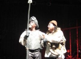 El hidalgo y su escudero.