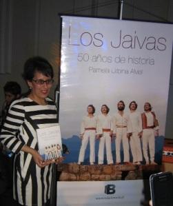 Pamela Urbina en el lanzamiento.