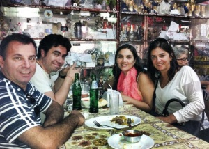 Con Edison y Marta, dos turistas amigos de Porto Alegre.