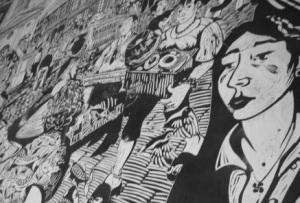 Mural interior del local.