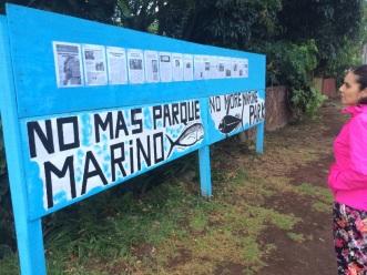 No a los parques submarinos