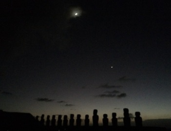 La luna, el lucero y el Ahu.
